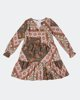"Picture of Printed Mini Dress ""Vita"" in Khaki"