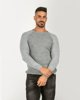 "Picture of Men's Textured Sweater ""Giannis"" in Grey Light"