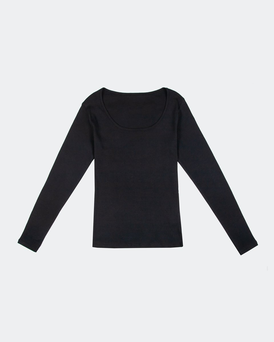 "Picture of Women's Long Sleeve Top ""Donna"" in Black"