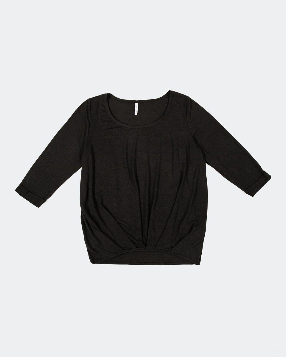 """Γυναικεία Μπλούζα 3/4 """"Mara"""" σε Χρώμα Μαύρο"""