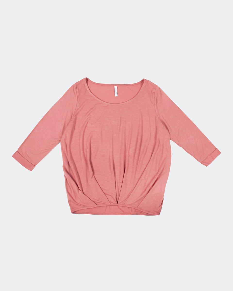 """Γυναικεία Μπλούζα 3/4 """"Mara"""" σε Χρώμα Σκούρο Ροζ"""