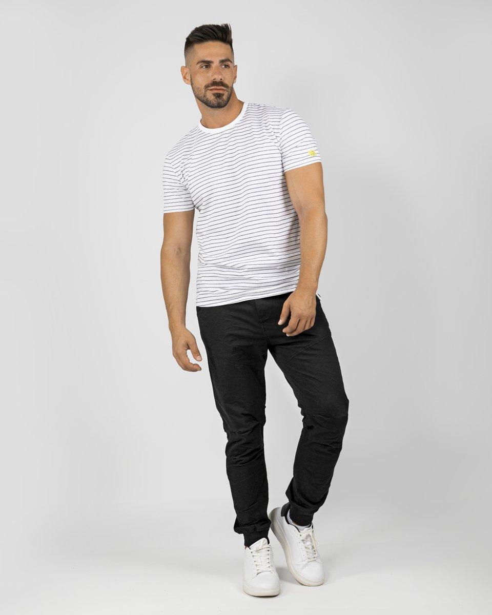 "Picture of Men's Short Sleeve T-Shirt ""Kane"" in White-Blue Royal"
