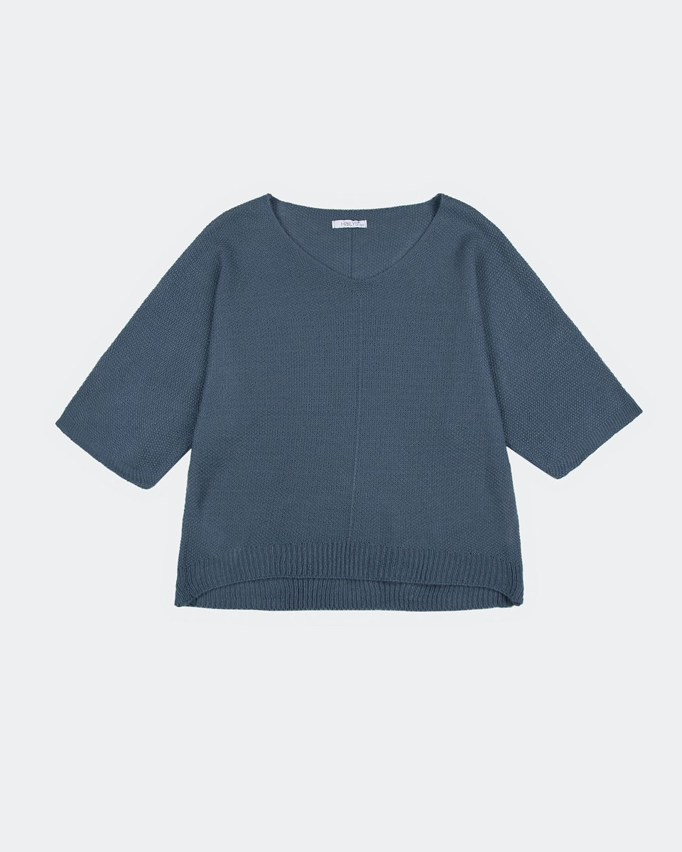 """Picture of Women's 3/4 Sleeve Sweater """"Verena"""" in Blue"""