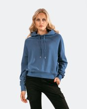 "Picture of Women's Hoodie ""Selin"" in Indigo Blue"