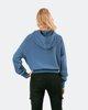"""Γυναικείο Φούτερ με Κουκούλα """"Selin"""" σε Χρώμα Μπλε Ίντιγκο"""