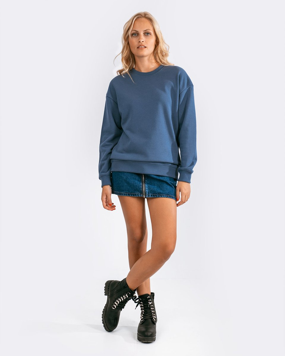 "Picture of Women's Basic Sweatshirt ""Seda"" in Indigo Blue"