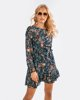 "Picture of Printed Mini Dress ""Gianna"" in Blue Navy"