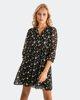 """Picture of Printed Mini Dress """"Carlotta"""" in Black"""