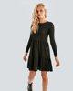 """Φόρεμα Μακρυμάνικο """"Alva"""" σε Χρώμα Μαύρο"""