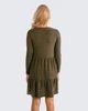 """Φόρεμα Μακρυμάνικο """"Alva"""" σε Χρώμα Χακί"""