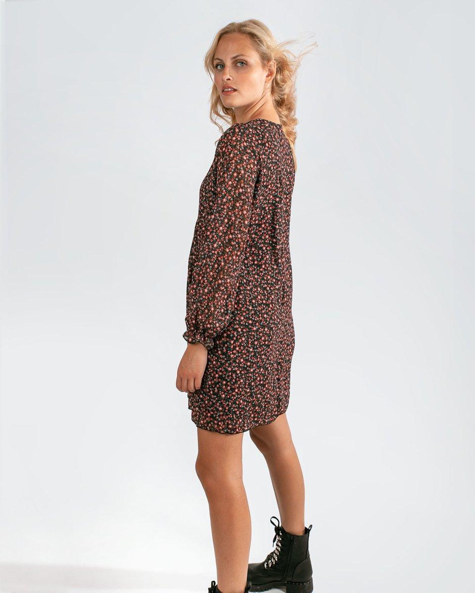 """Φόρεμα Μακρυμάνικο """"Silvia"""" σε Χρώμα Μαύρο"""