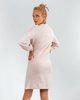 """Γυναικείο Φόρεμα Μακρυμάνικο """"Marisa"""" σε Χρώμα Μπεζ Μελανζέ"""