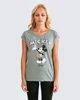 """Γυναικεία Κοντομάνικη Μπλούζα """"Lauren"""" σε Χρώμα Λαδί"""