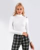 """Picture of Women's Ribbed Blouse """"Nina"""" in Off-White"""