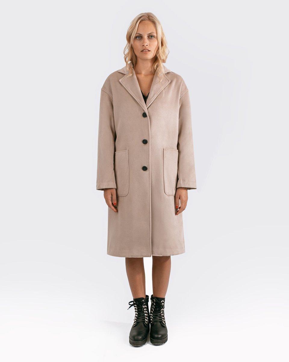 """Γυναικείο Παλτό """"Denise"""" σε Χρώμα Μπεζ"""