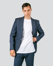 "Picture of Men's Textured Suit Blazer ""Homer"" in Blue"