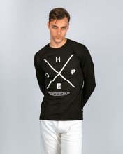 "Picture of Men's Long Sleeve T-Shirt ""Hat"" in Black"