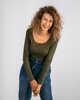 "Picture of Women's Long Sleeve Top ""Donna"" in Khaki"