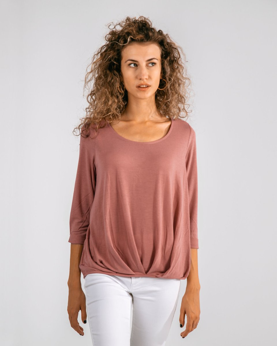 "Picture of Women's 3/4 Sleeve Top ""Mara"" in Dusty Rose"