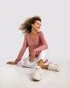 """Γυναικεία Πλεκτή Μπλούζα """"Carlotta"""" σε Χρώμα Dusty Rose"""