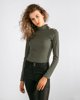 """Picture of Women's Ribbed Blouse """"Nina"""" in Khaki"""