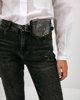 Γυναικείο Denim Παντελόνι F-DM172N με Ζώνη και Τσαντάκι
