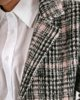 """Picture of Women's Check Coat """"Semi"""" in Rose"""
