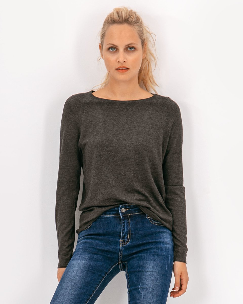 """Picture of Women's Long Sleeve Sweater """"Marin"""" in Black"""