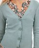 """Picture of Women's Ribbed Cardigan """"Alenia"""" in Jade Melange"""