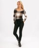 """Picture of Women's Checked Long Sleeve Top """"Nora"""" in Black"""