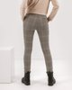 "Picture of Mid-waist Checked Trousers ""Demi"" in Brown"