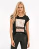 """Picture of Women's Short Sleeve T-Shirt """"Thala"""" in Black"""