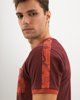 "Picture of Men's Short Sleeve T-Shirt ""Leaves Print"" in Dark Red"