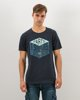 "Picture of Men's Short Sleeve T-Shirt ""Parts & Supplies"" in Blue Dark"