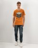 "Picture of Men's Short Sleeve T-Shirt ""Parts & Supplies"" in Brown"