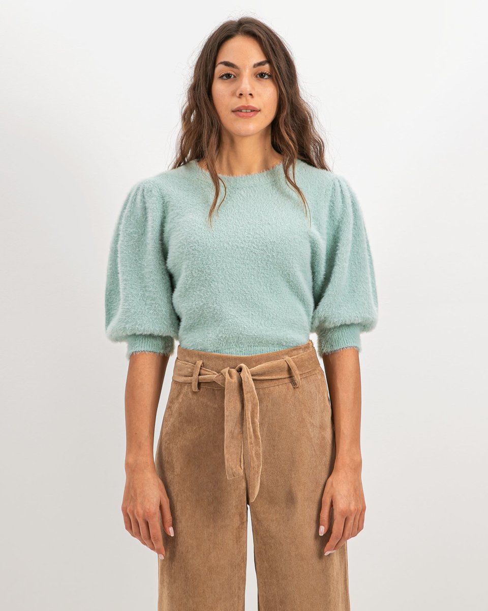 """Picture of Women's Knit Top """"Zea"""" Jade"""