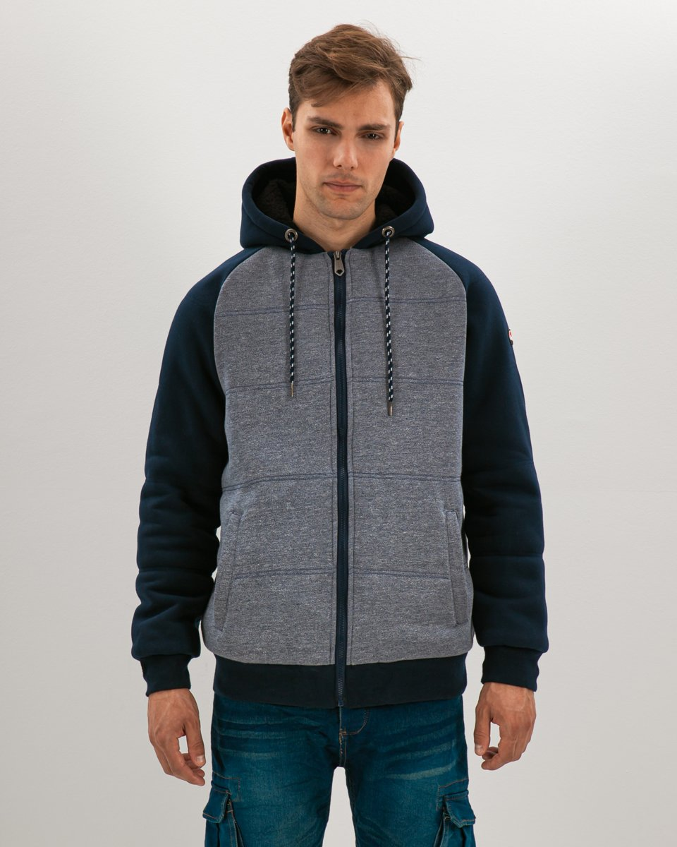 Picture of Men's Hoodie Fleece Lining Blue