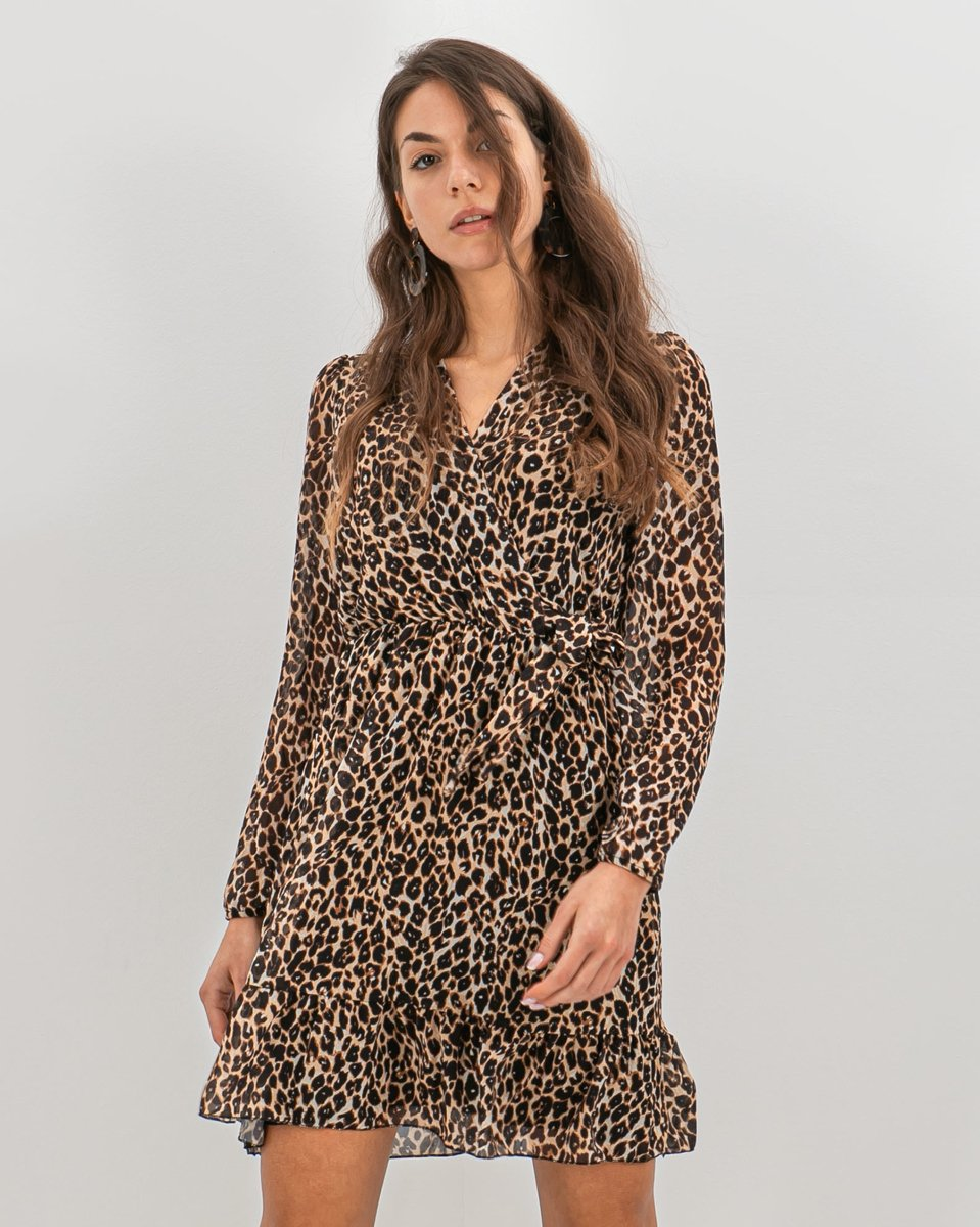"Picture of Animal Print Dress ""Romina Leo"""