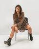 """Φόρεμα  Animal Print """"Romina Leo"""""""