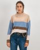 """Picture of Women's Striped Knit Sweater """"Nika"""" Blue"""