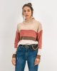 """Picture of Women's Striped Knit Sweater """"Nika""""  Rose"""