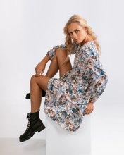"""Picture of Printed Mini Dress """"Vita"""" in Off-White"""