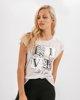 """Γυναικείο T-Shirt """"Alea"""" Μπεζ Μελανζέ"""