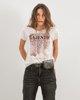 """Γυναικείο T-Shirt """"Ela"""" Μπεζ Μελανζέ"""