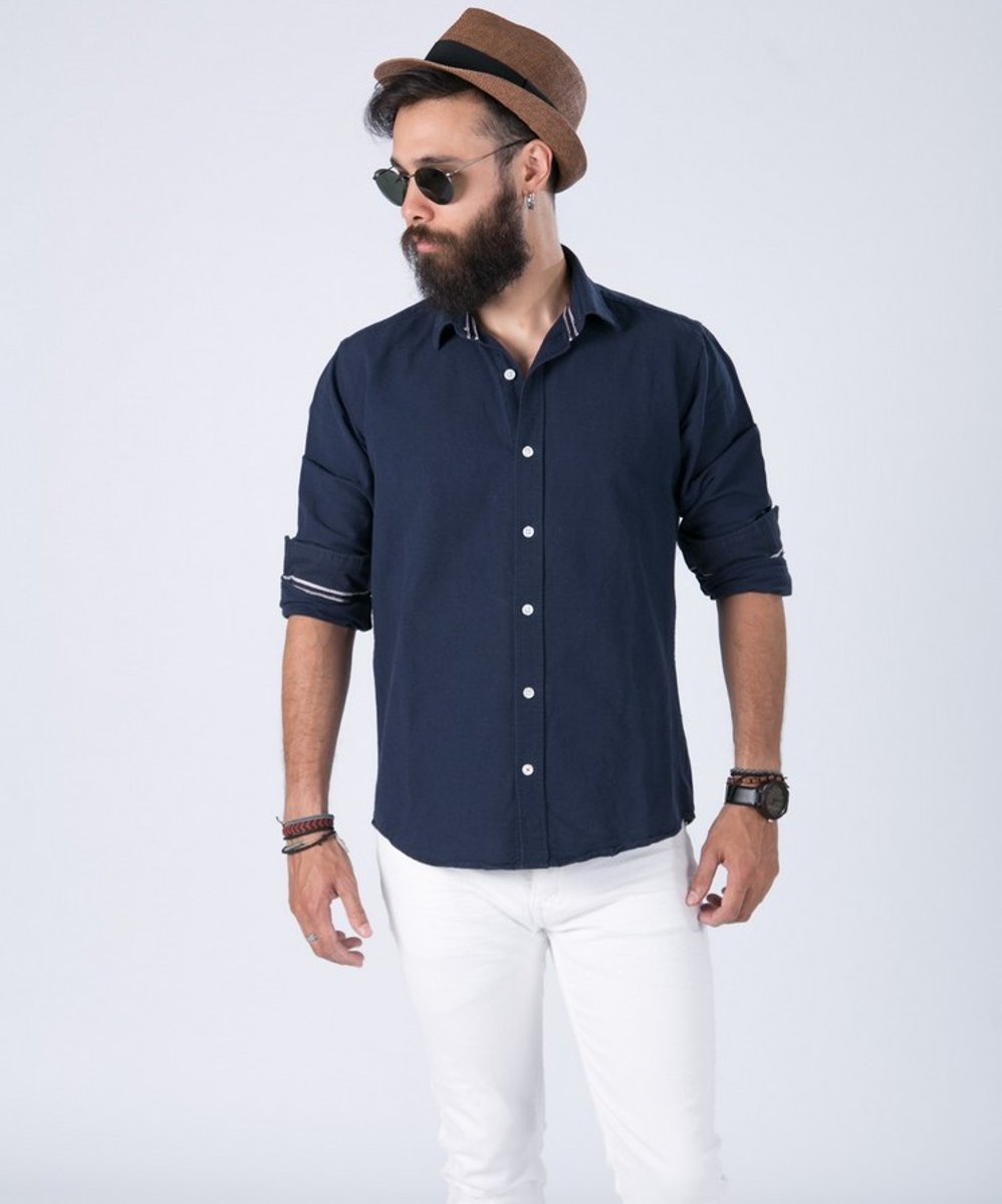 Picture of Men's Shirt ''Ozel'' in Blue Navy