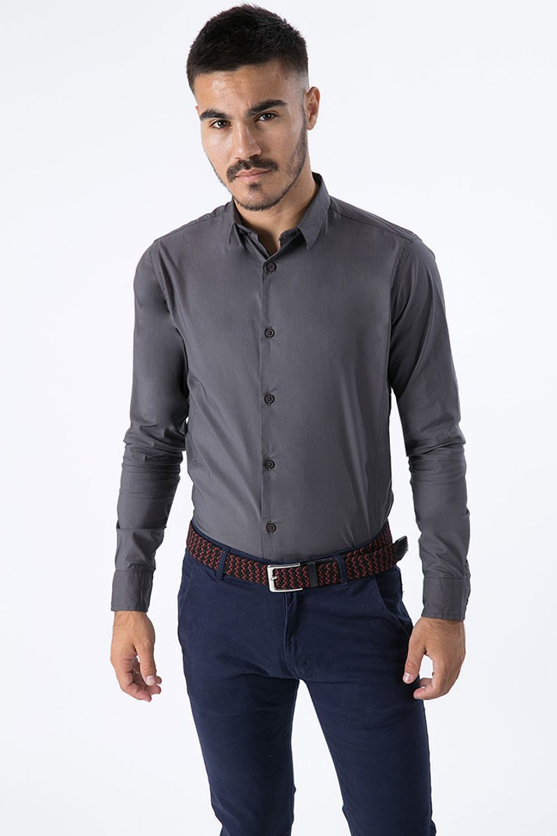 "Picture of Men's Shirt Stretch Fit ""Dionisis"" Anthra"