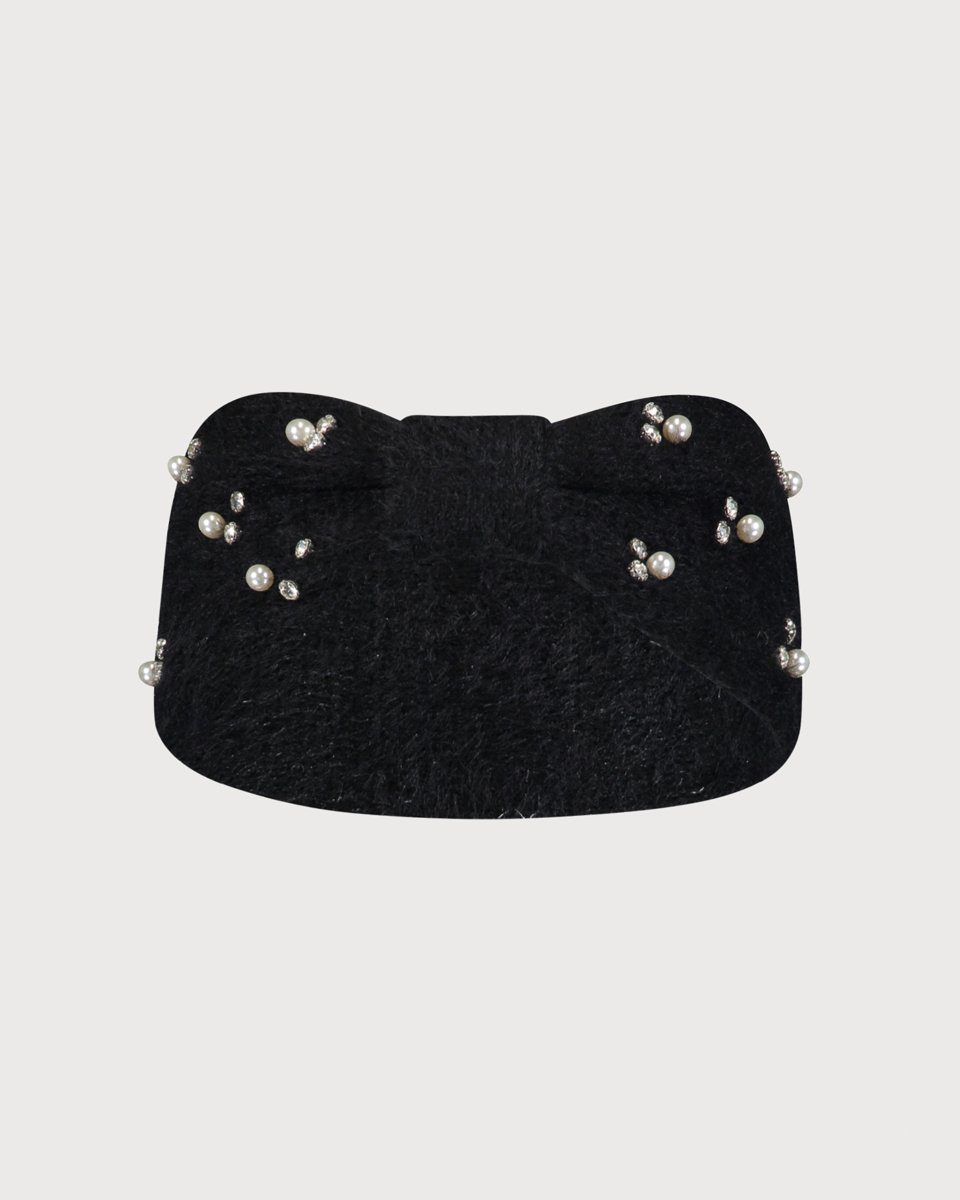 "Picture of Women's Knit Headband ""Paris"" in Black"
