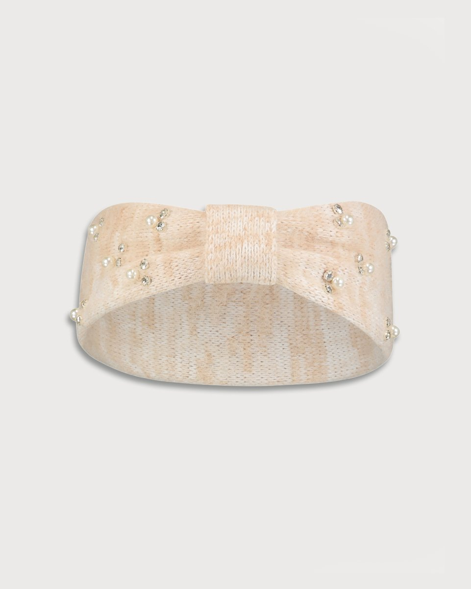 "Picture of Women's Knit Headband ""Paris"" in Beige Melange"