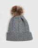"""Picture of Women's Knitted Pompom Hat """"Ora"""" in Dark Grey Melange"""