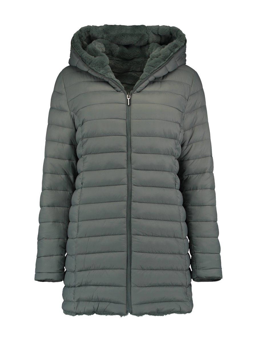 "Picture of Women's Reversible Faux Fur Jacket ""Larea"" in Dark Jade"